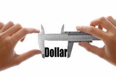 Medindo o dólar Imagens de Stock Royalty Free