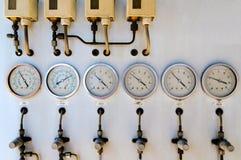 Medindo os condicionadores de ar Imagens de Stock