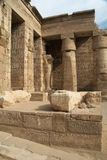 Medinet Habu ancient Egypt temple Royalty Free Stock Image