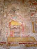 Medinet Habu Tempel Thebes Ägypten lizenzfreie stockfotos