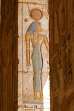 Medinet Habu Temple Egypt. Egypt, Upper Egypt, Nile Valley, Gaugue bank of Thebes, about Luxor, Medinet Habu Temple classified World Heritage stock images