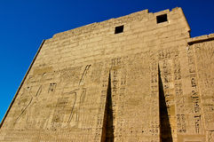 Medinet Habu Temple Egypt. Egypt, Upper Egypt, Nile Valley, Gaugue bank of Thebes, about Luxor, Medinet Habu Temple classified World Heritage stock photo