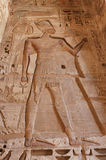 Medinet Habu Temple Egypt. Egypt, Upper Egypt, Nile Valley, Gaugue bank of Thebes, about Luxor, Medinet Habu Temple classified World Heritage stock image