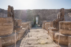 Medinet Habu temple in Luxor Stock Photography