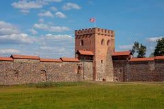Medininkai-Schloss Stockbild
