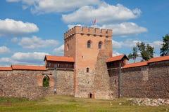 Medininkai slott Arkivbild