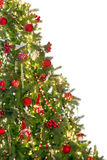 Medio árbol de navidad Fotos de archivo