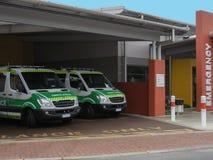 Medio australiano de las ambulancias de ser visto foto de archivo libre de regalías