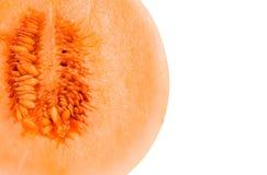 Medio melón del cantalupo Fotografía de archivo