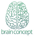 Medio concepto eléctrico de la placa de circuito del cerebro Fotografía de archivo