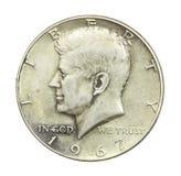 Medio dólar de John F. Kennedy Fotografía de archivo libre de regalías