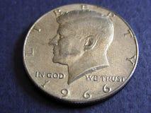 Medio dólar de Kennedy Imágenes de archivo libres de regalías