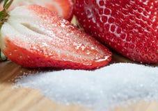 medio dulzor Fresa Rojo Frutas azúcar fotos de archivo