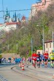 Medio maratón 2016 de Sportisimo Praga Imagen de archivo