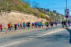 Medio maratón 2016 de Sportisimo Praga Fotos de archivo