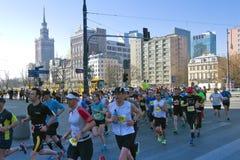 Medio maratón 2014 de Varsovia Fotografía de archivo