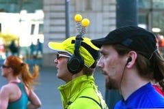 Medio maratón 2014 de Varsovia Imágenes de archivo libres de regalías