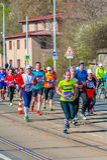 Medio maratón 2016 de Sportisimo Praga Imagenes de archivo