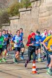 Medio maratón 2016 de Sportisimo Praga Fotos de archivo libres de regalías
