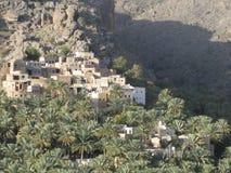 Medio Oriente o l'Africa, vecchi paesaggi pittoreschi del deserto del villaggio abbandonato abbellisce la fotografia immagini stock libere da diritti