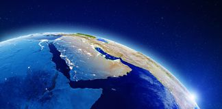 Medio Oriente y la Arabia Saudita libre illustration