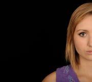 Medio retrato adolescente de la cara Imágenes de archivo libres de regalías