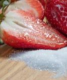 medio Rojo azúcar dulzor Fresa Frutas fotos de archivo libres de regalías