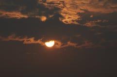 Medio sol Imágenes de archivo libres de regalías