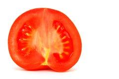 Medio tomate del corte Imagenes de archivo