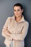 Medio-volwassen aantrekkelijke vrouw Royalty-vrije Stock Afbeeldingen