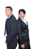 Medio volwassen paar in elegante kostuums Royalty-vrije Stock Foto