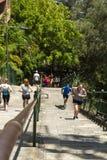 Mediodía Sun de la hora de la almuerzo de los corredores Fotos de archivo libres de regalías