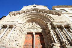 Medioeval cathedral of Arles Royalty Free Stock Photography