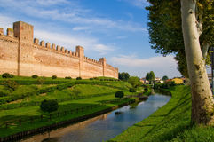 Medioeval walls. Cittadella city in north Italy. Medioeval walls stock photography