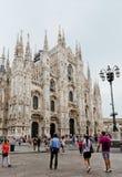 Mediolańska katedra, Duomo i Vittorio Emanuele II galeria przy Piazz, obrazy stock