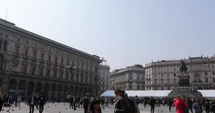 Mediolańska kopuły pętli panorama zbiory wideo