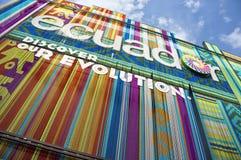 Mediolański expo Ekwador 2015 pawilon Zdjęcia Stock