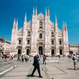 Mediolański katedry lub Duomo di Milano jest katedralnym kościół Mi Fotografia Stock