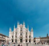 Mediolański katedry lub Duomo di Milano jest katedralnym kościół Mi Obraz Stock
