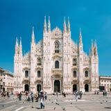 Mediolański katedry lub Duomo di Milano jest katedralnym kościół Milano Zdjęcia Royalty Free