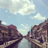 Mediolański navigli Zdjęcia Royalty Free