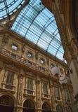 Mediolański Włochy galleria vittorio Emanuele Obraz Stock