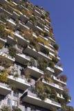 Mediolański Włochy Nov 2016 Bosco Verticale, pionowo lasowy mieszkanie Obrazy Stock