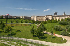 Mediolański Włochy: park przy Portello Fotografia Royalty Free