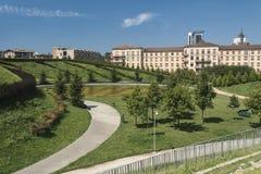 Mediolański Włochy: park przy Portello Zdjęcia Stock