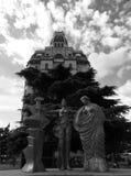 2015 Mediolańskich Włochy antyczny buduje B/W Obrazy Royalty Free
