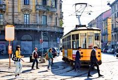 Mediolańska Italy porta Genova stacja Zdjęcie Royalty Free