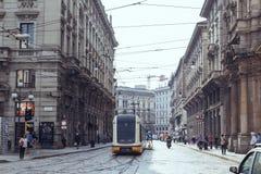Mediolańska ulica Obrazy Royalty Free