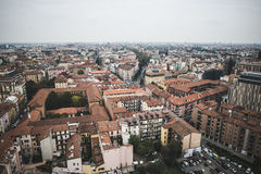 Mediolański widok od Garibaldi góruje Obrazy Stock