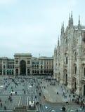 Mediolańskiej katedry Duomo nazwani di Milano Zdjęcie Stock